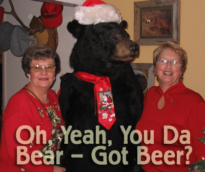 what's Christmas without a bear in the corner?