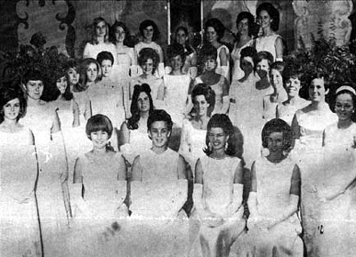 a bevy of Brevard beauties gather for the 1967 debutante ball
