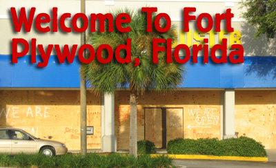 welcome to fort plywood, florida
