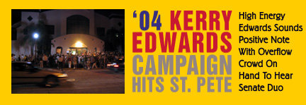 Kerry Edwards campaign headline at Coliseum